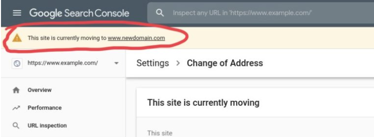 On-Screen Reminders change of address tool