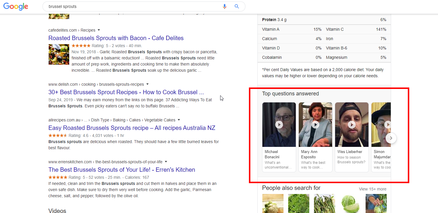 Google Starts to Show Top Questions Answered in Knowledge Panel