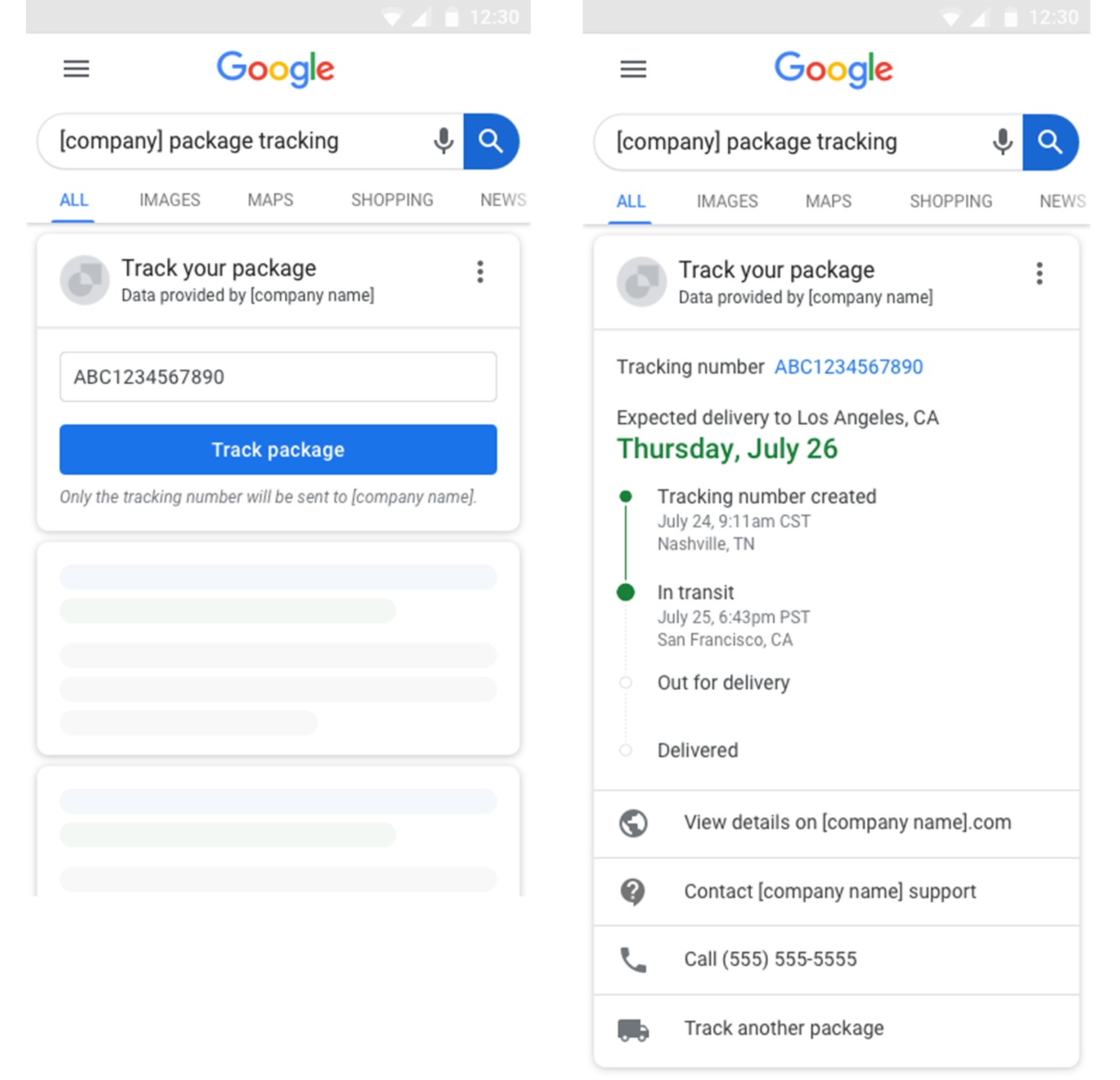 Google Adds a New Recommended Field CanReschedule for Package Tracking SERP Feature
