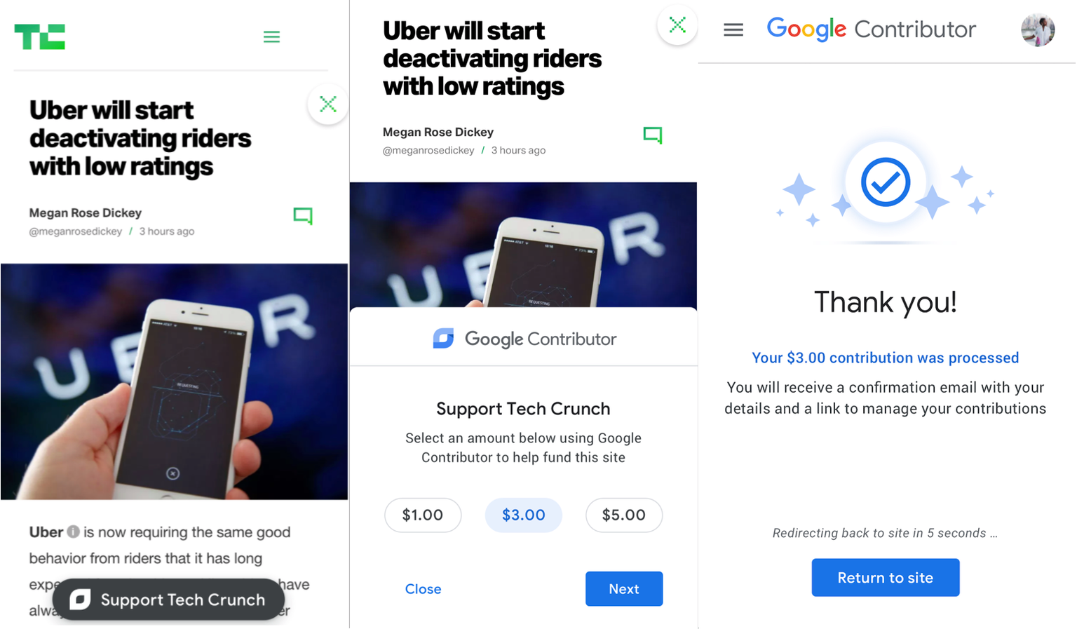 Google Was Exploring a Tipping Feature for Donating Money to Sites but They Scrapped It