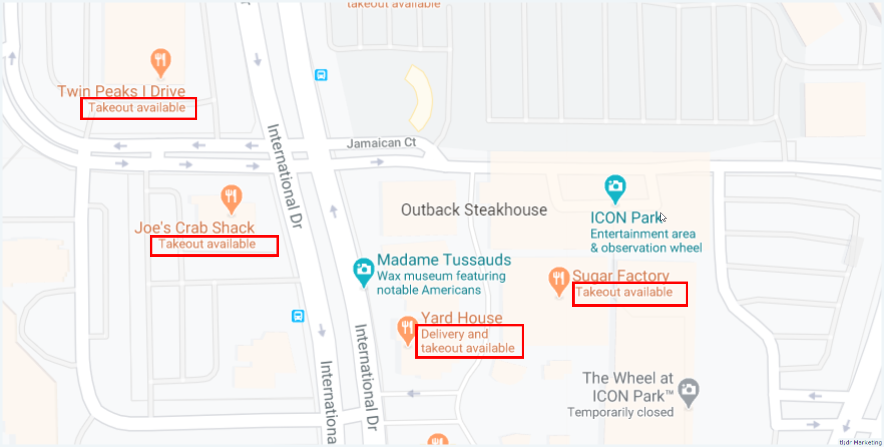 Google Maps Starts to Show Takeout & Delivery Available in Place of GMB Tagline