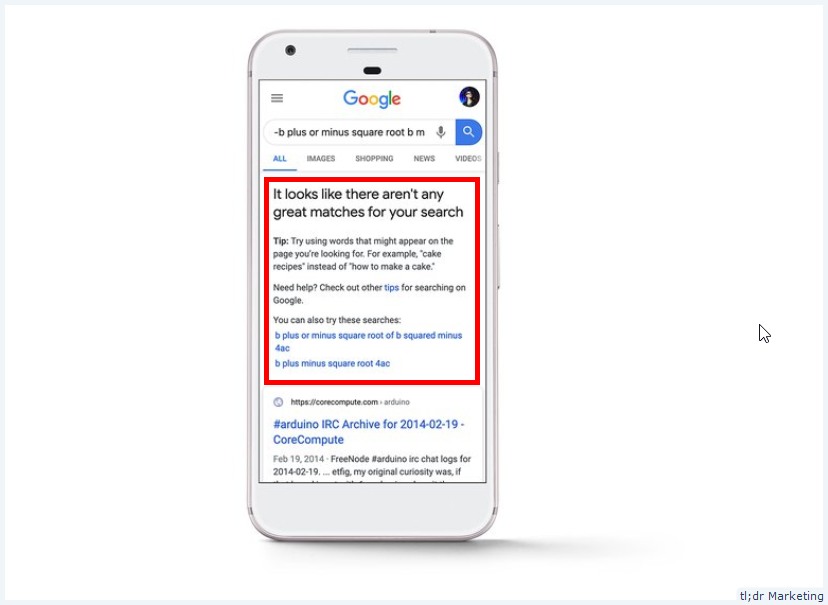 Google Will Show You Search Tips When They Don't Have Good Results for You Query