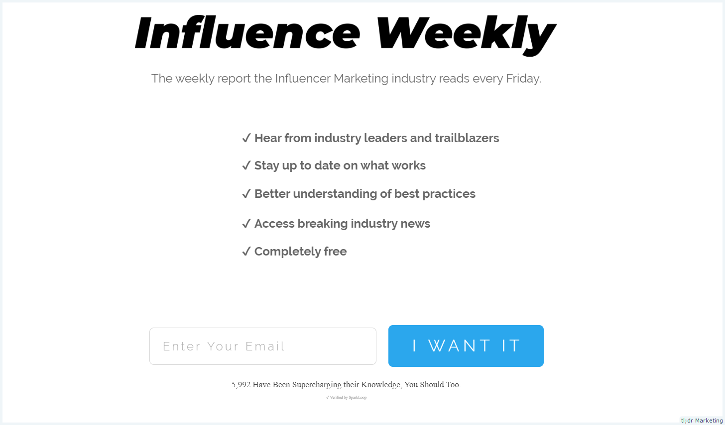 The Weekly Email Report with Curated Influencer Marketing Reads Every Friday