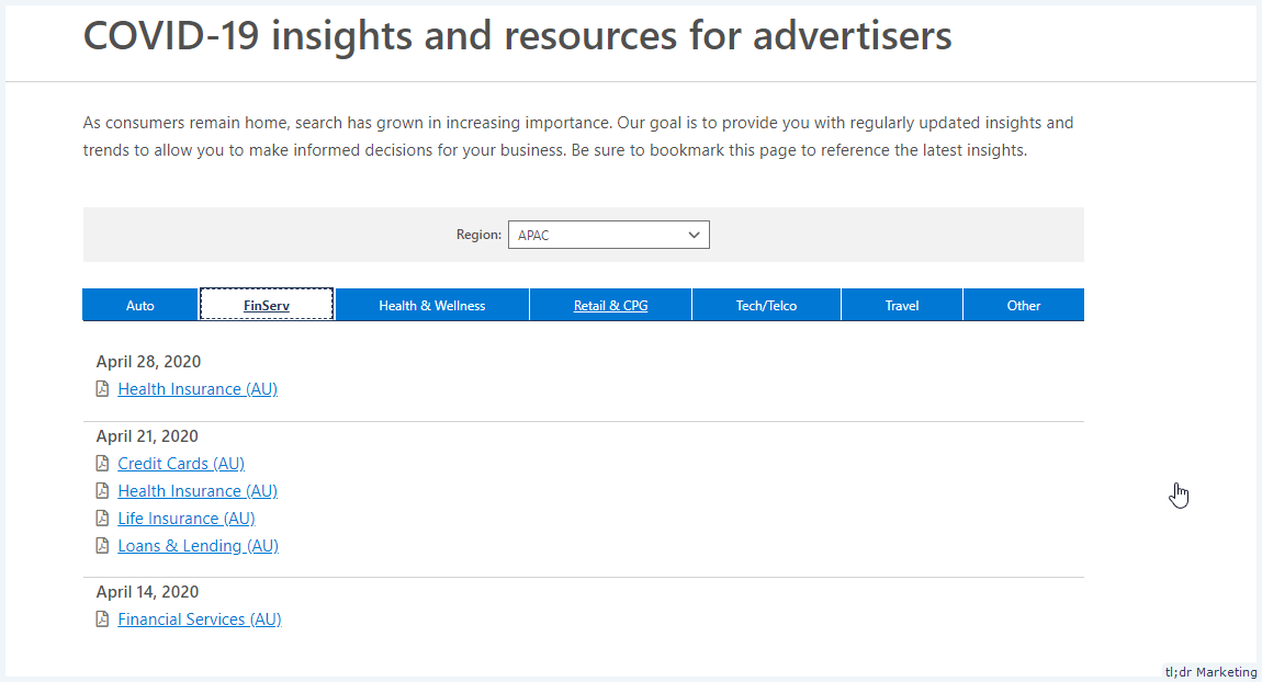 Bing's COVID-19 Insights and Resources for Advertisers