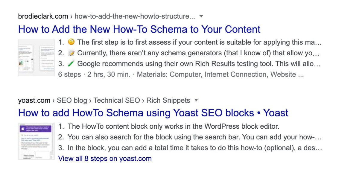 How-To Schema on Desktop Now Starts to Appear With Thumbnail Image