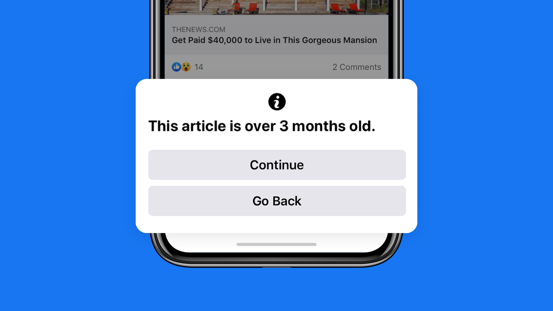 Facebook to Warn Users Before They Share News Articles Older Than 90 Days