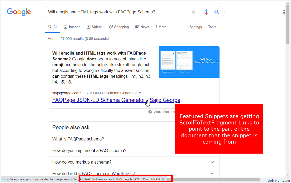Google Automatically Adds Scroll To Text Fragment to Featured Snippets in SERPs on Chrome