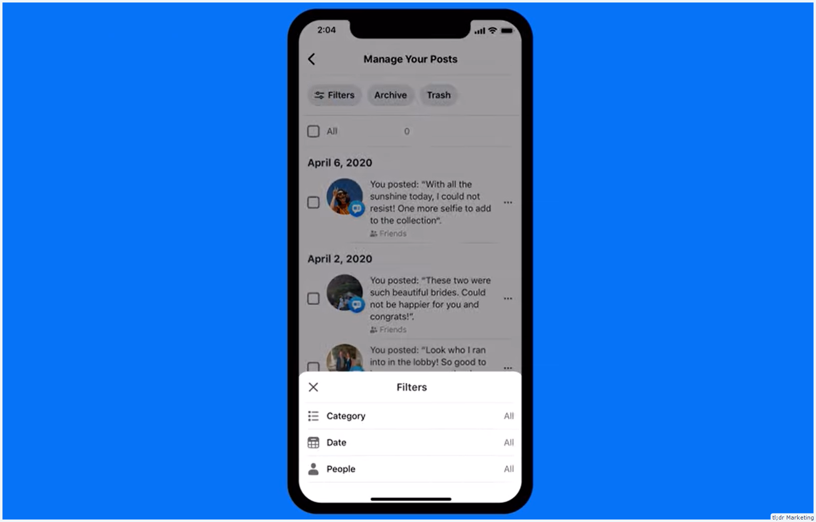 Facebook Introduces a Bulk Delete Posts Option with Manage Activity
