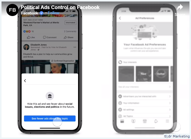 Users Now Able to Block Political Ads on Facebook and Instagram