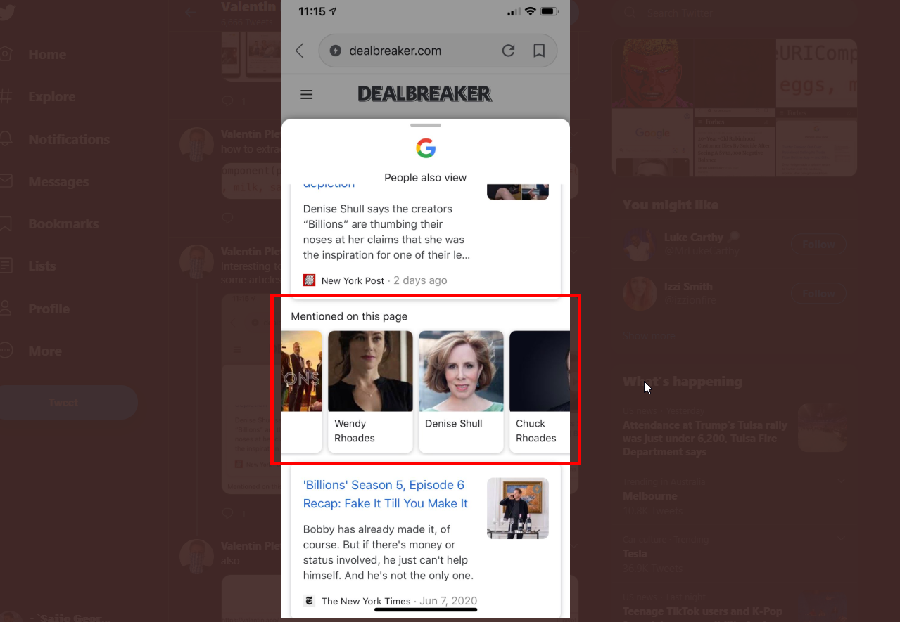 Google Discover Tests Showing Entities for Some Articles