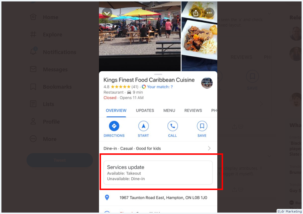Google Tries Grouping Service Update Attributes in Location Panel