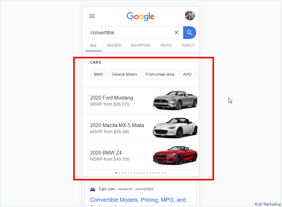 Google Mega Knowledge Graph Snippets Expands to Mobile for some Generic Queries