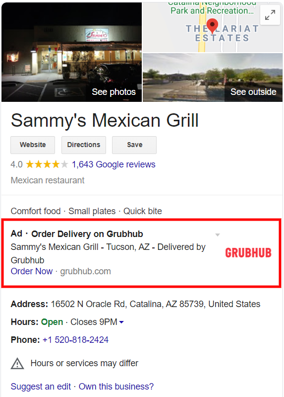 Ads in Local Business Location Panels are Back