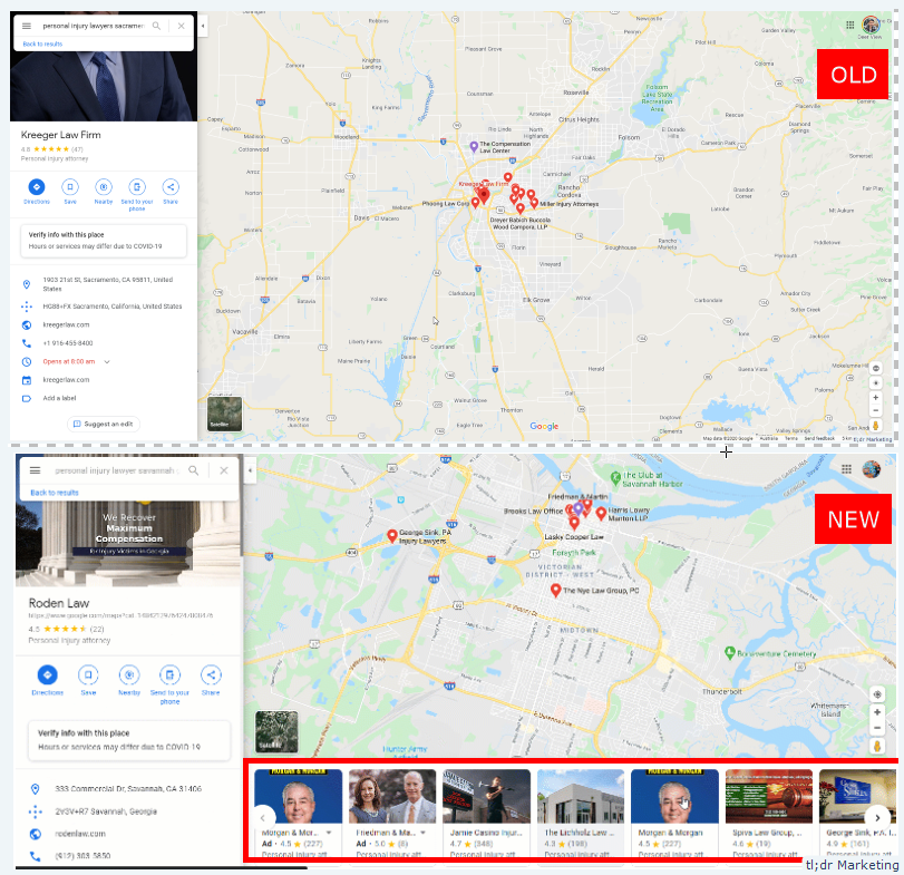 Google Tests Local Business Carousel on Desktop Google Maps
