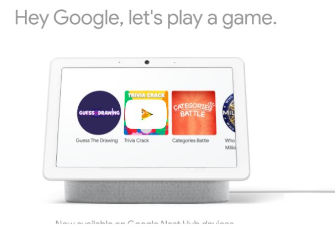 Google Smart Display Brings Out New Visual Games