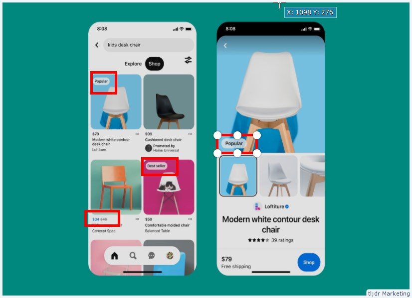 Pinterest Tests Labels to Bring More Context, Information to Product Pins
