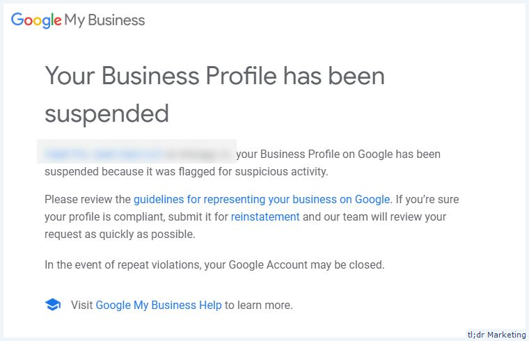 Guide on Google My Business Suspensions and How to Apply For Reinstatement