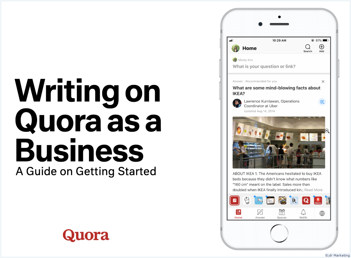Quora Publishes a Guide on Writing on Quora as a Business