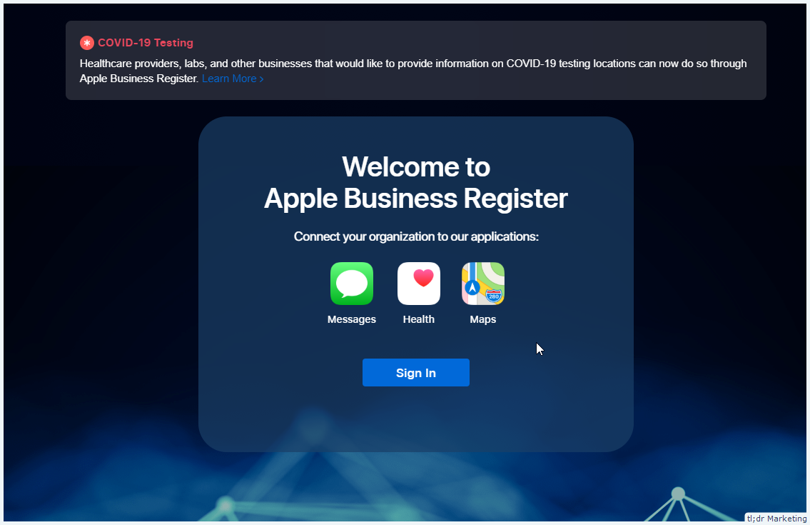 Apple Business Register – Apple's version of Google My Business