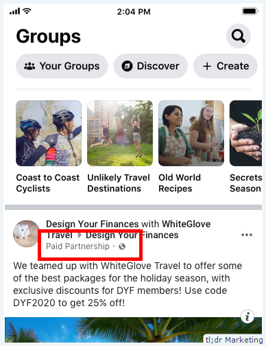 Facebook Adds Sponsored Post Options for Public Groups With Over 1000 Members