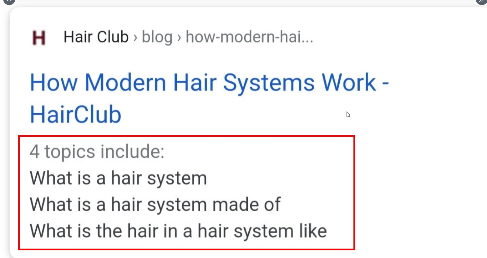 Google Test Showing Heading Tags as Topics Instead of Meta Description in Mobile SERPs