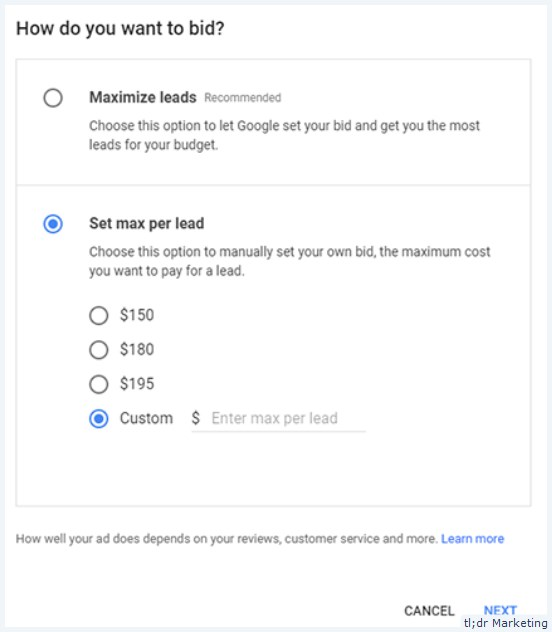 Google May Start Showing a Bidding Mode for Some Business Categories in Local Services Ads