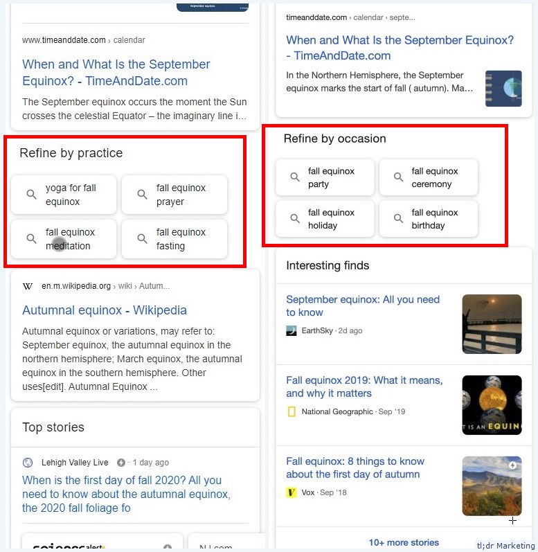 Google Tests Refine By SERP Feature on Mobile SERP