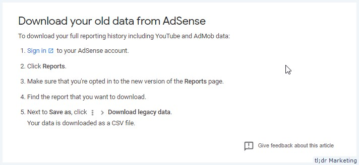 AdSense Deleting Reporting Data – Will Show Last 3 Years