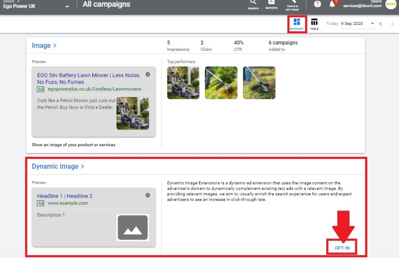 Google Ads Dynamic Image Extensions Opt In Starts To Appear For Some Users