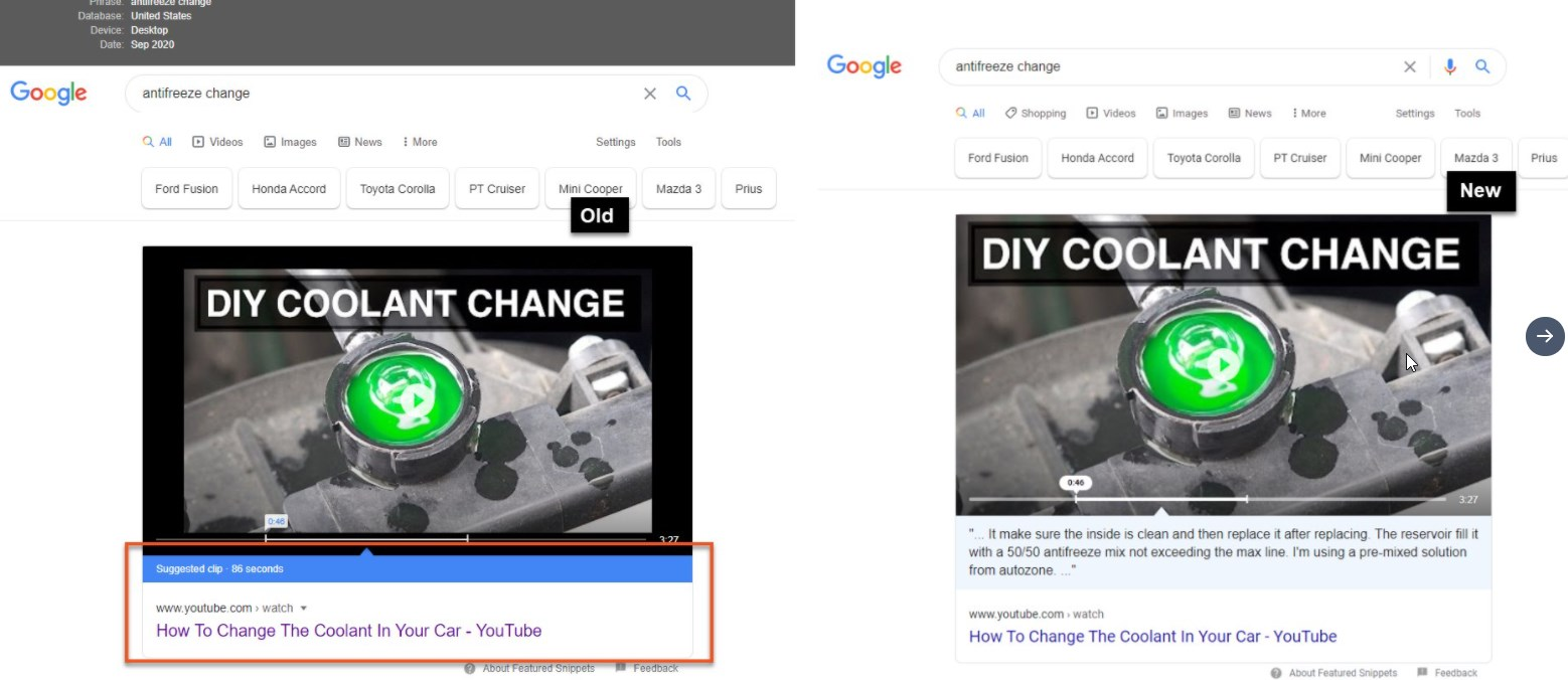 Google Is Pulling Youtube Transcripts into Featured Snippets on Both Mobile and Desktop