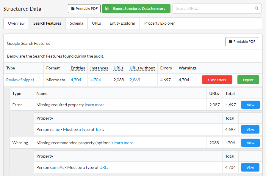 Sitebulb's New Structured Data Report Enables Extraction and Validation on Every Page of Your Website