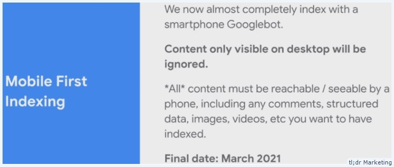 Google Says Desktop Only Content Will be Dropped from March 2021