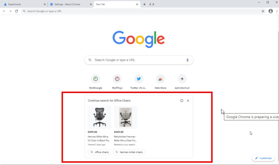Google Chrome Is Preparing a Widget with Shopping Ads on the New Tab Page