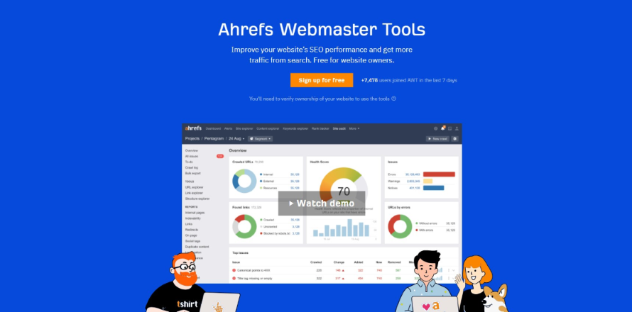 Ahrefs Webmaster Tools: Completely Free For Your Website.