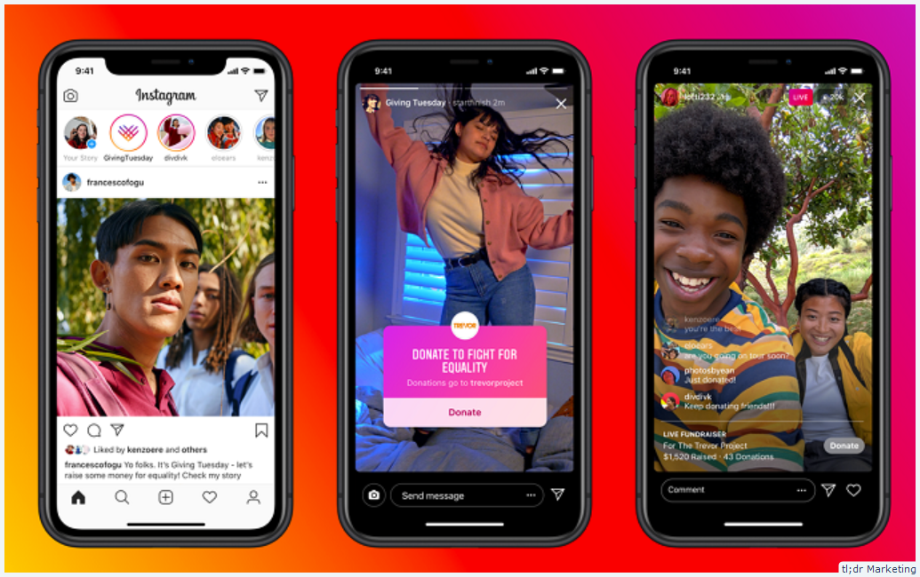 Instagram Adds 'Giving Tuesday' Features to Highlight How People Can Assist Nonprofits and SMBs