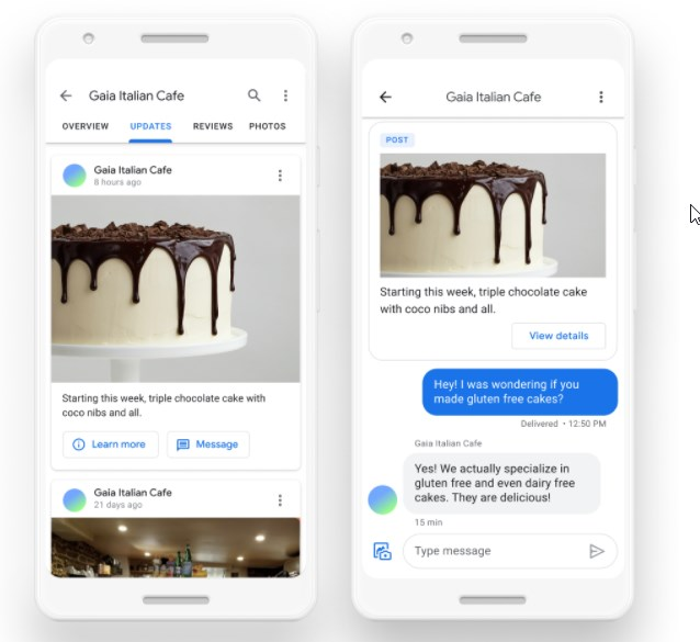 Google Brings Messaging Capabilities in Google Maps and Search