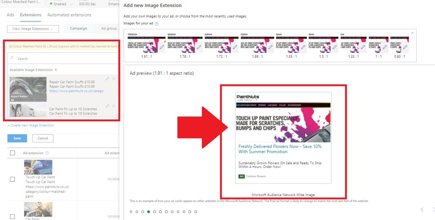 Multi-Image Extensions In Bing Starts to Appear for some UK Microsoft Advertising Accounts
