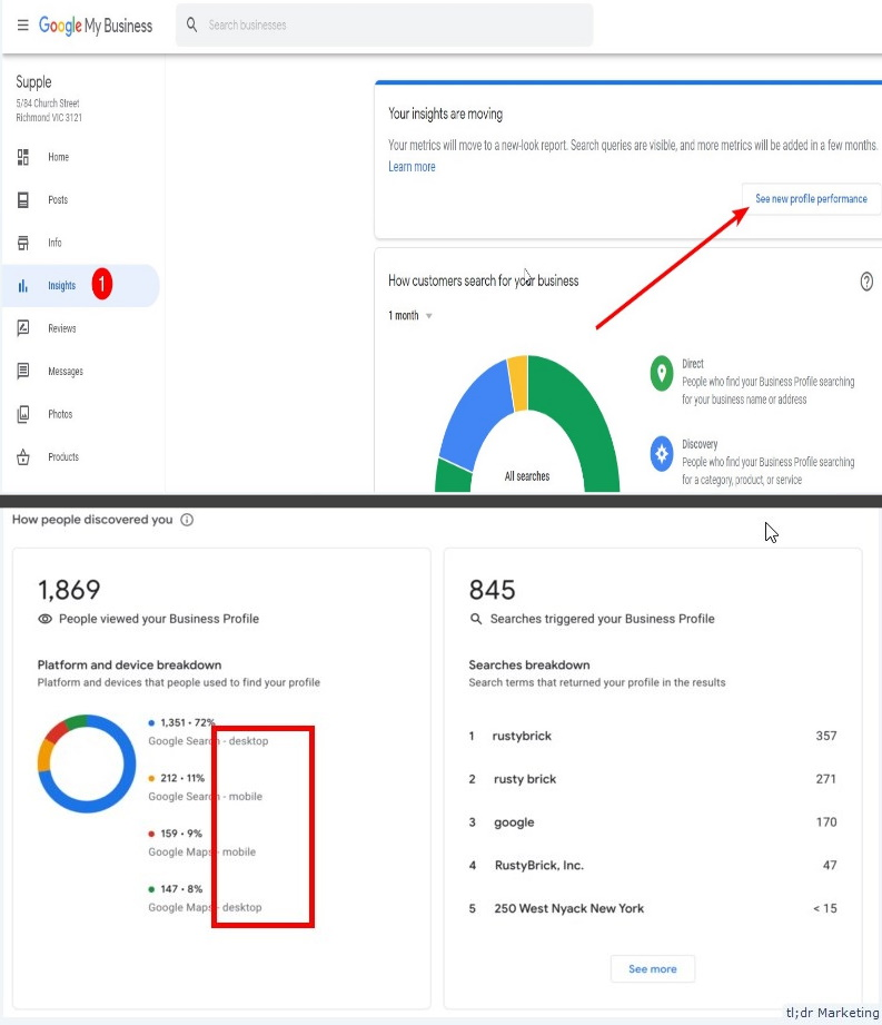 Google My Business Performance Report Now Shows Device and Platform Breakdown