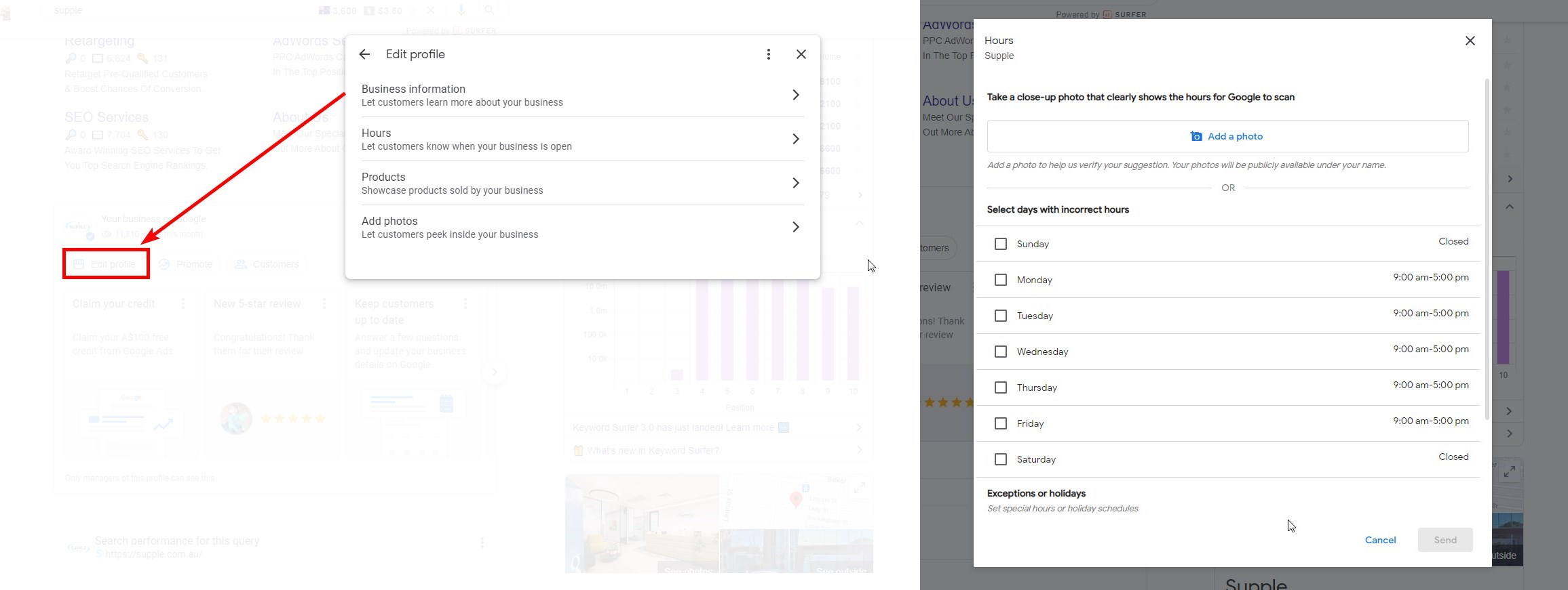 GMB Owners Can Now Update Business Info, Hours And Even Upload Photos Right From Google Search