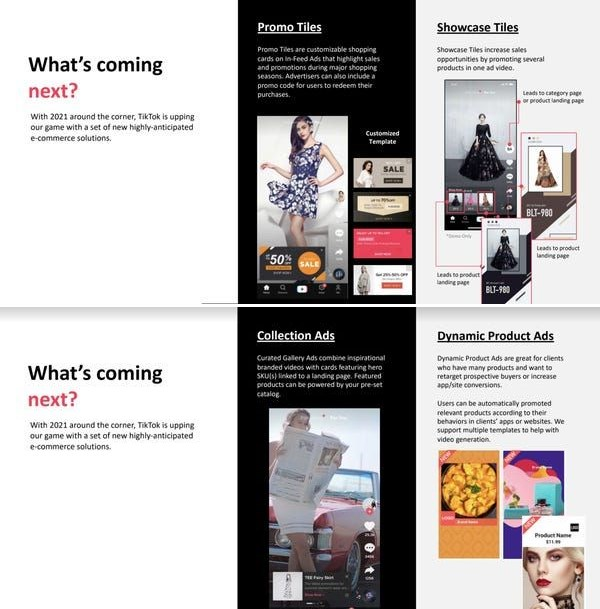 Tiktok Advertiser Pitch Deck Reveals New Ad Formats Coming Soon