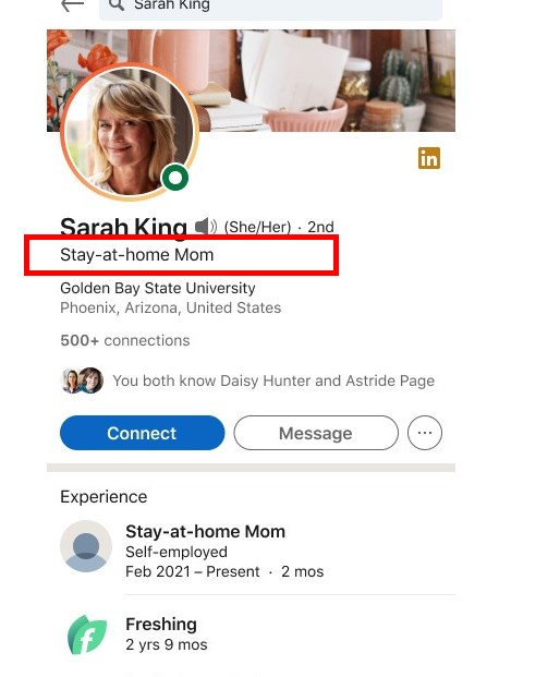LinkedIn Is Adding Stay-at-Home Mom Dad Parent as a Job Title