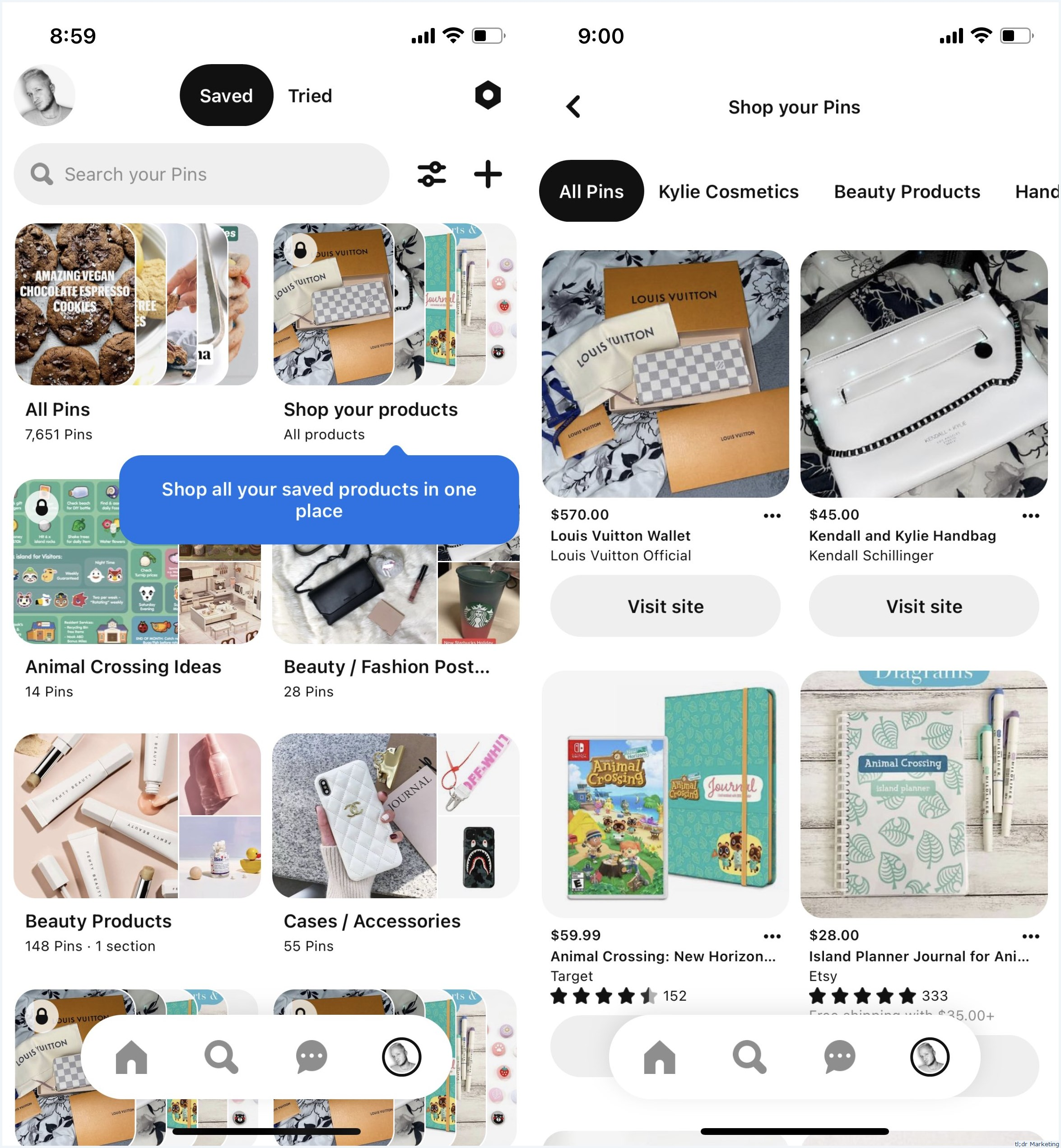 Pinterest Has a New Private Shopping Board Where You Can Access All Your Saved Shopping Pins