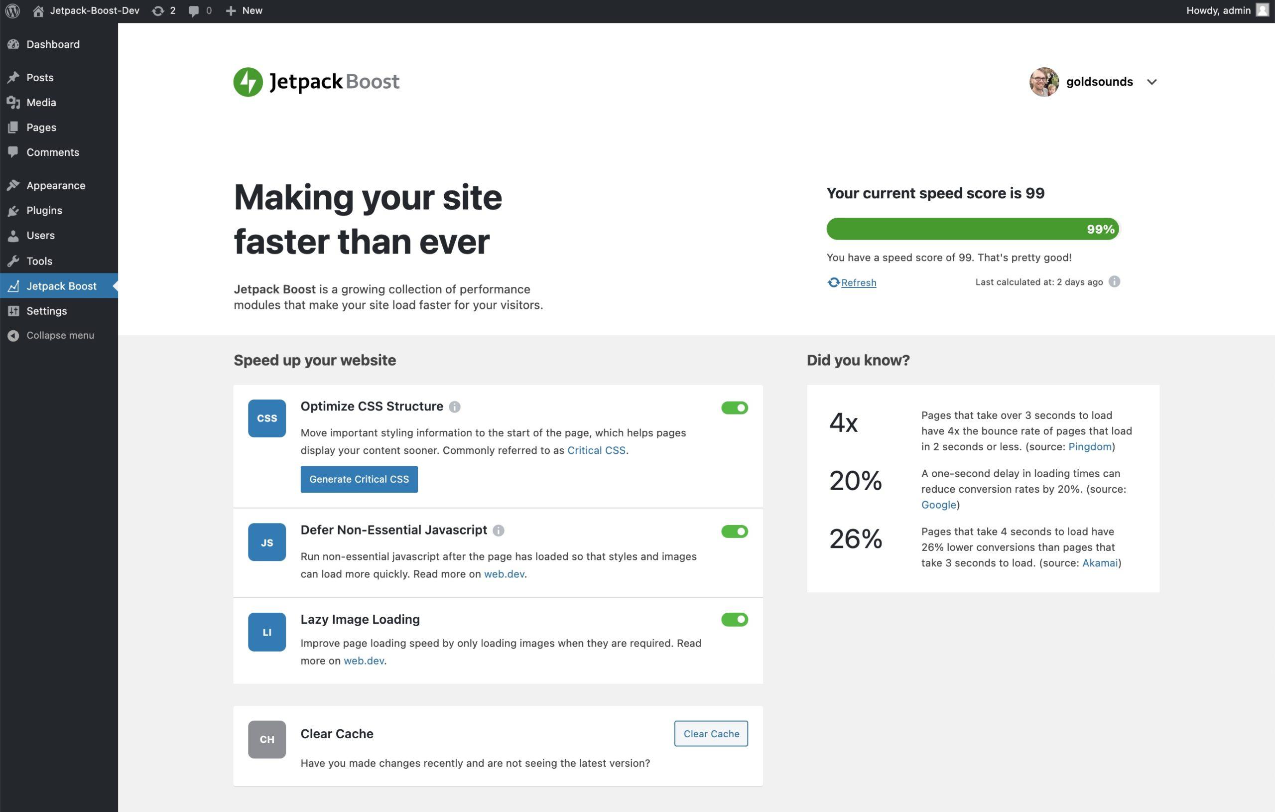 Jetpack Boost – Core Web Vitals WordPress Plugin from Automattic