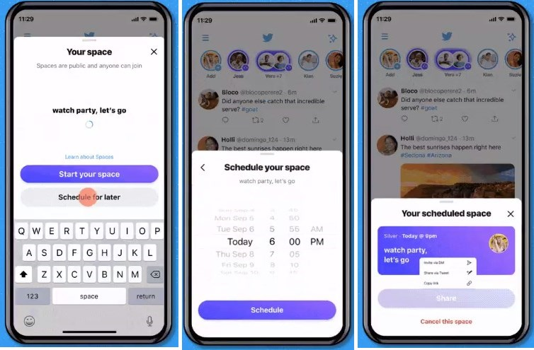 Twitter Adds Scheduling for Spaces, Reminders to Attendees