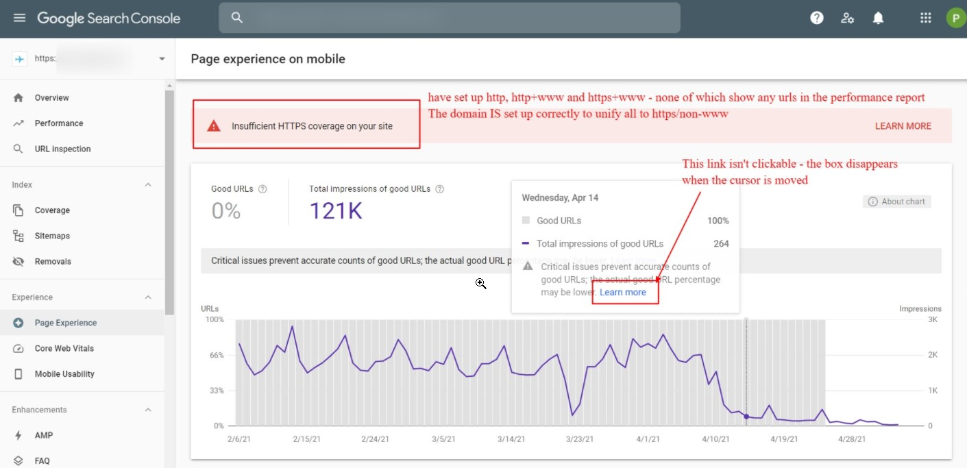 Google Search Console Bug: Insufficient HTTPS Coverage On Your Site