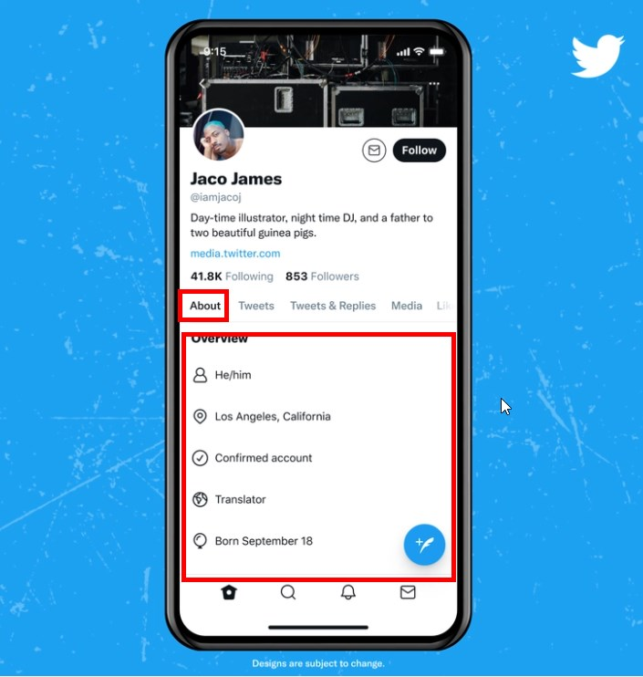 Coming Soon to Twitter – User Profiles With About Tab, Support For Pronouns, Confirmed Status And More