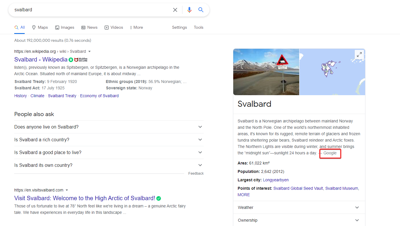 Google Starts Crediting Itself in Knowledge Panels Instead of Wikipedia