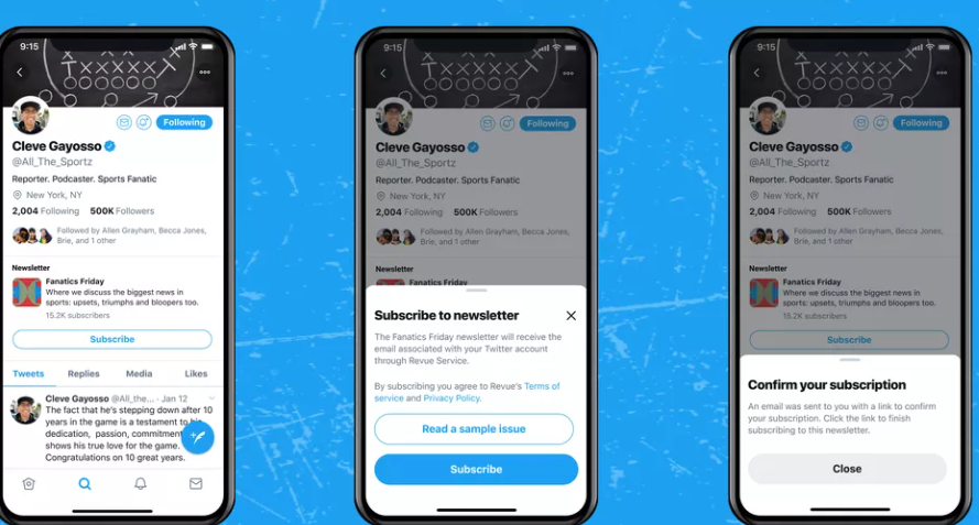Twitter To Add A Newsletter Subscribe Button To Profiles For Simple Sign-ups