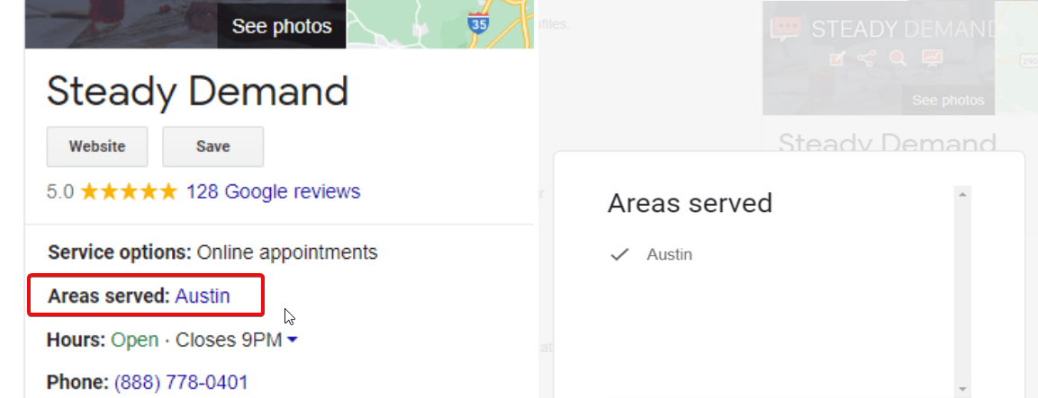 Google Tests Showing Areas Served On Service Area Businesses Location Panels