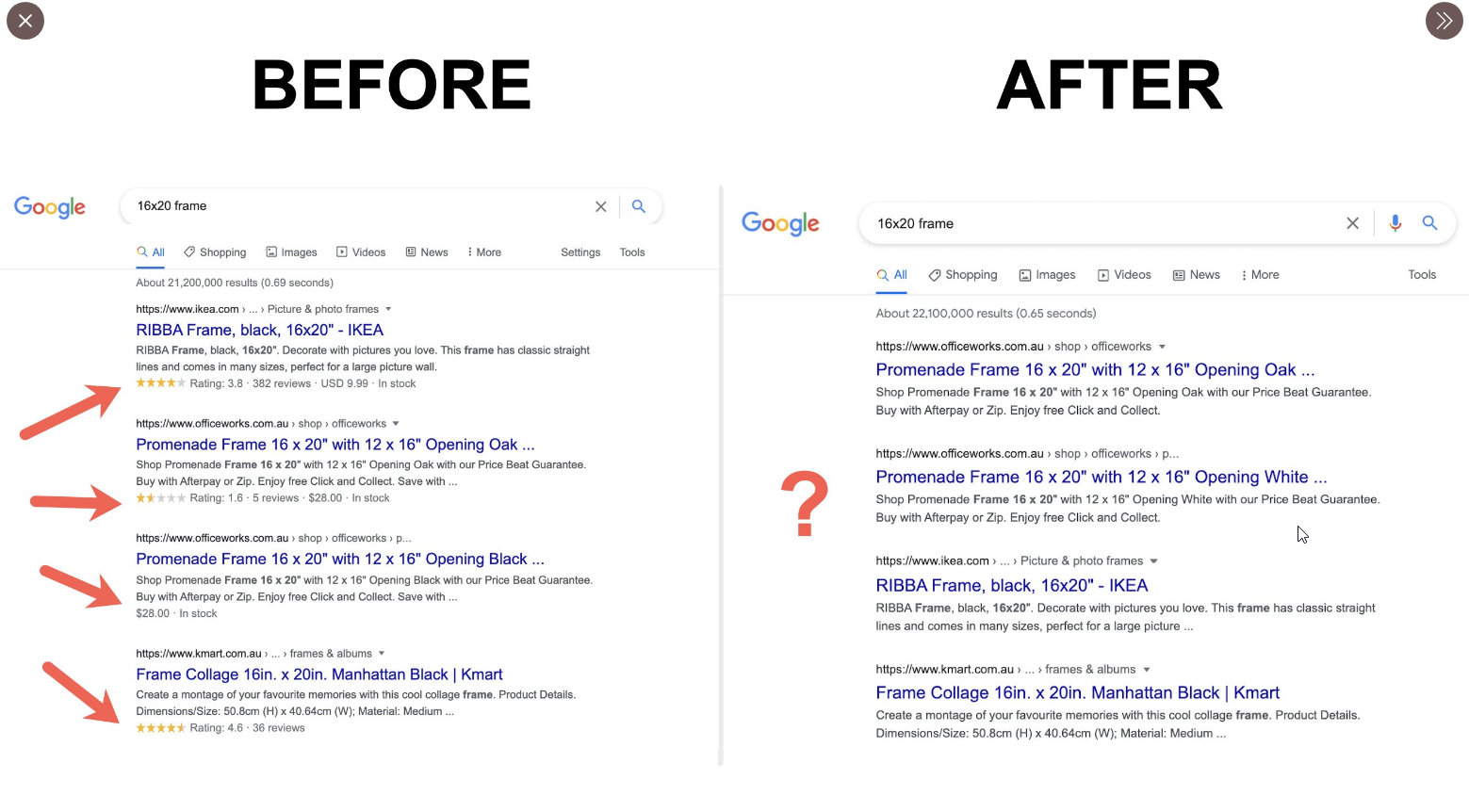 Did Google Pull The Plug On Product Review Star Snippet In The SERPs